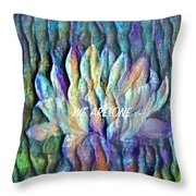 Floating Lotus - We Are One Throw Pillow