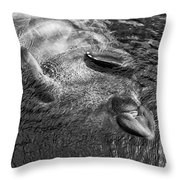 Floating Manatee Throw Pillow