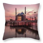 Floating Mosque Throw Pillow