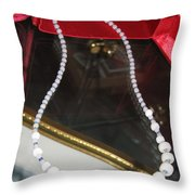 Floating Necklace Throw Pillow