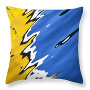 Floating On Blue 33 Throw Pillow