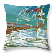 Floating On Blue 35 Throw Pillow