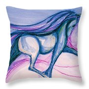 Floating On Pink Throw Pillow