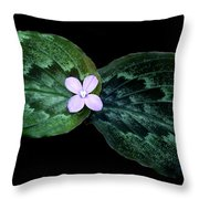 Floating Peacock Plant Throw Pillow