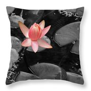 Floating Pink Throw Pillow