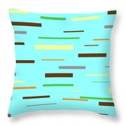 Floating Planks Throw Pillow