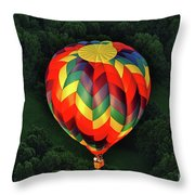 Floating Rainbow Throw Pillow