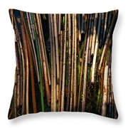 Floating Reeds Throw Pillow