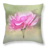 Floating Rose Throw Pillow