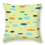 Floating Saucers Throw Pillow