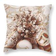 Floating Spheres Throw Pillow