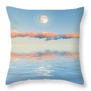 Floating Through Blue Throw Pillow