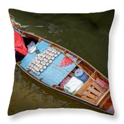 Floating To Work Throw Pillow