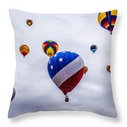 Floating Upward Throw Pillow