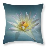 Floating Water Lily Throw Pillow