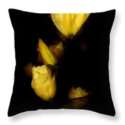 Floating Yellow Magnolia Blossoms Throw Pillow