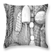 Floats Ropes Chains N Thangs Throw Pillow