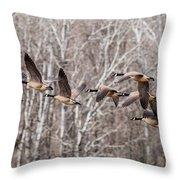 Flock Of Geese Throw Pillow