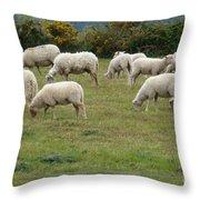 Flock Of Sheeps Throw Pillow