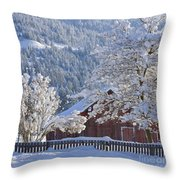Flocked Throw Pillow