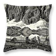Floe Lake Sepia Throw Pillow