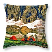 Floe Lake Throw Pillow