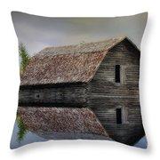 Flooded Barn Throw Pillow