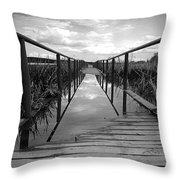 Flooded Bridge Throw Pillow