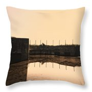 Flooded Defences Throw Pillow