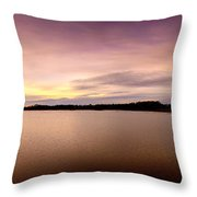Flooded Sunset Throw Pillow