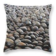 Floor Of Rocks Throw Pillow
