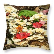 Floor Of The Forest In Fall Throw Pillow