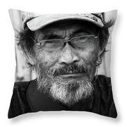 Flopog Throw Pillow