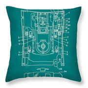 Floppy Disk Assembly Patent Drawing 1c Throw Pillow