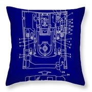 Floppy Disk Assembly Patent Drawing 1e Throw Pillow