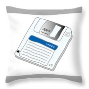 Floppy Disk Throw Pillow