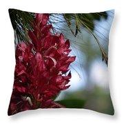 Flor De Fuego Throw Pillow