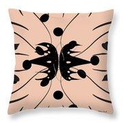 Flora Feline Blushed Throw Pillow