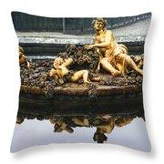 Flora Fountain - Palace Of Versailles Throw Pillow