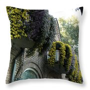 Flora Gardens 173 Throw Pillow