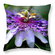 Flora Passiflora Throw Pillow