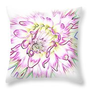 Floradoodle Throw Pillow