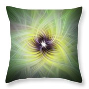 Floral Abstract Square Throw Pillow