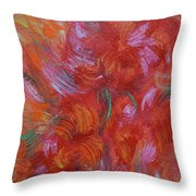 Floral Abstract, Sunshine Bouquet Throw Pillow