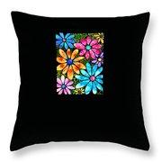 Floral Art - Big Flower Love - Sharon Cummings Throw Pillow