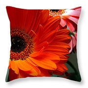Floral Art Throw Pillow