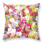 Floral Art Clvii Throw Pillow
