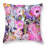 Floral Art Clviii Throw Pillow