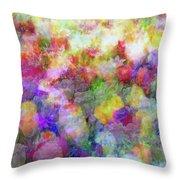 Floral Art Cxi Throw Pillow