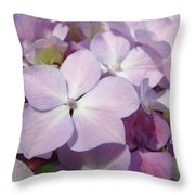 Floral Art Hydrangea Flowers Purple Lavender Baslee Troutman Throw Pillow
